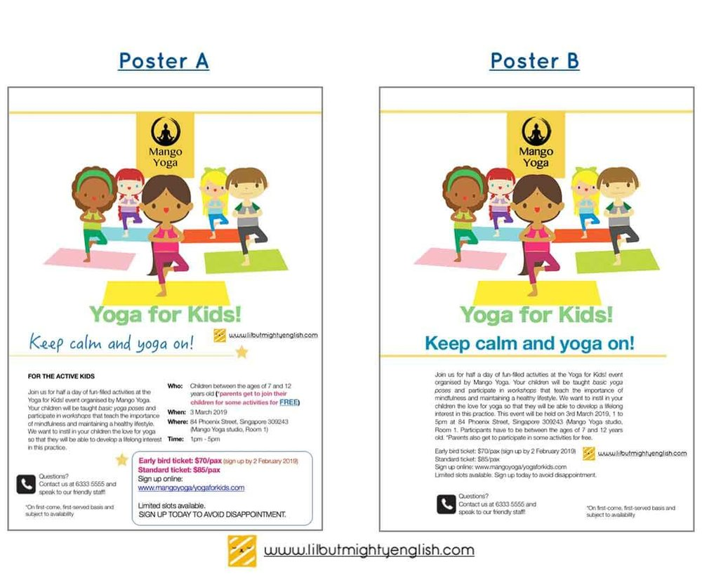 PSLE Visual Text Comprehension Posters