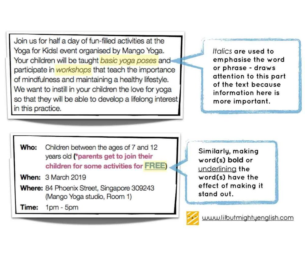Visual Text Comprehension | Variation in font