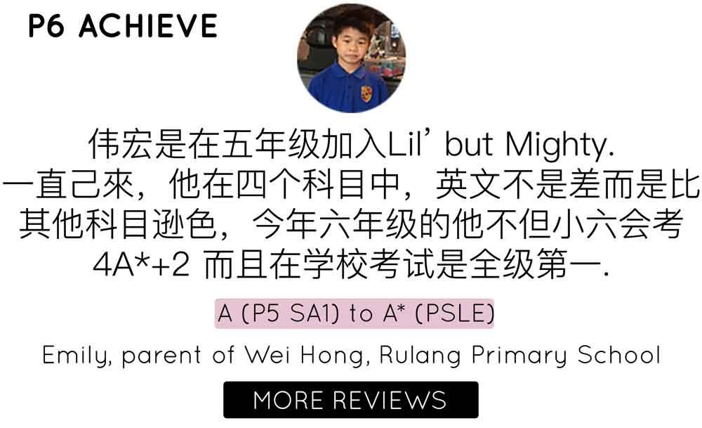 Primary 6 English Tuition | Testimonial Rulang