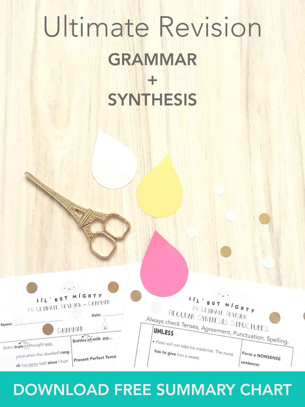 PSLE English | Printable Ultimate Grammar & Synthesis Summary