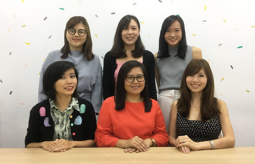 From Left to Right Top:  Ms Quek ,  Ms Siow  and  Ms Cynthia  Bottom:  Ms Xie ,  Ms Nora  and  Mrs Chew