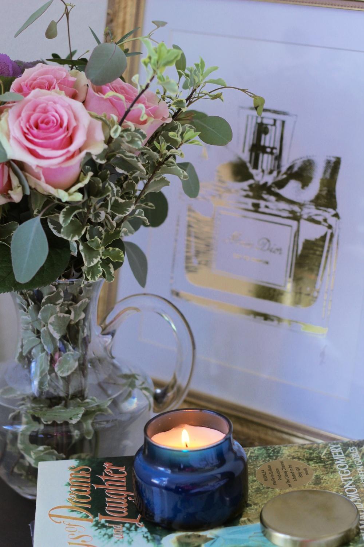 gilt edge | enjoy with a book :: capri blue candle