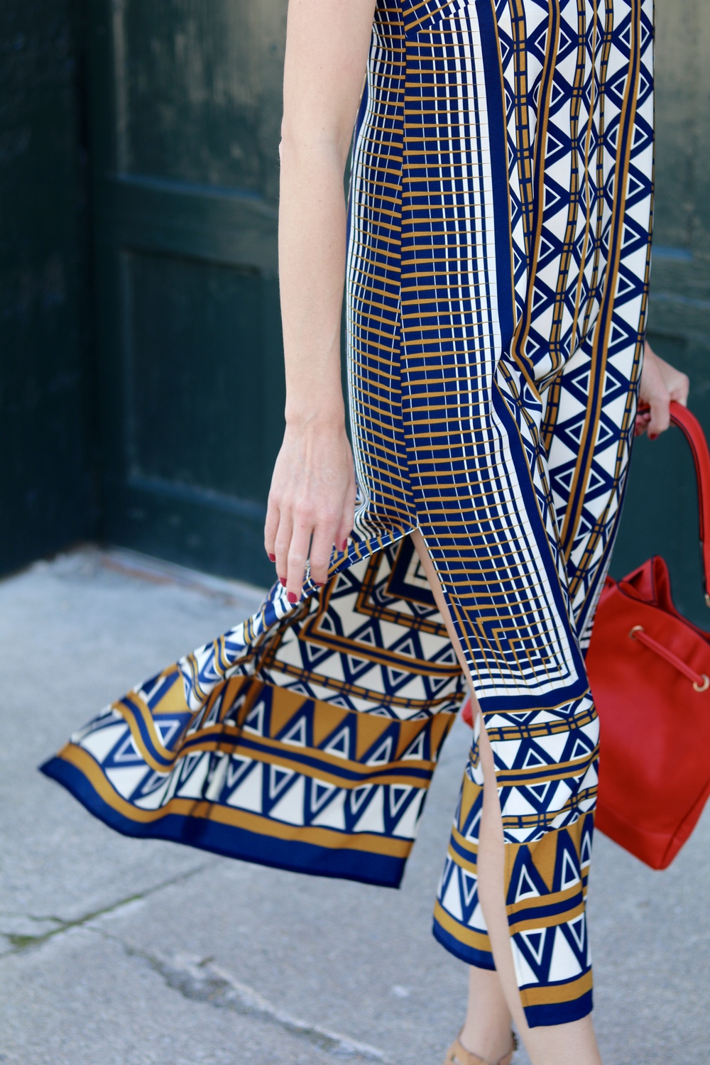 gilt edge | printed midi