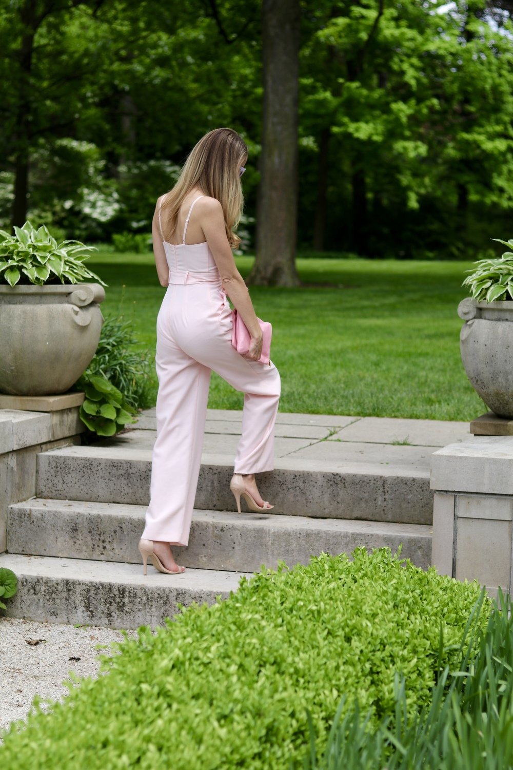 gilt edge | pink jumpsuit