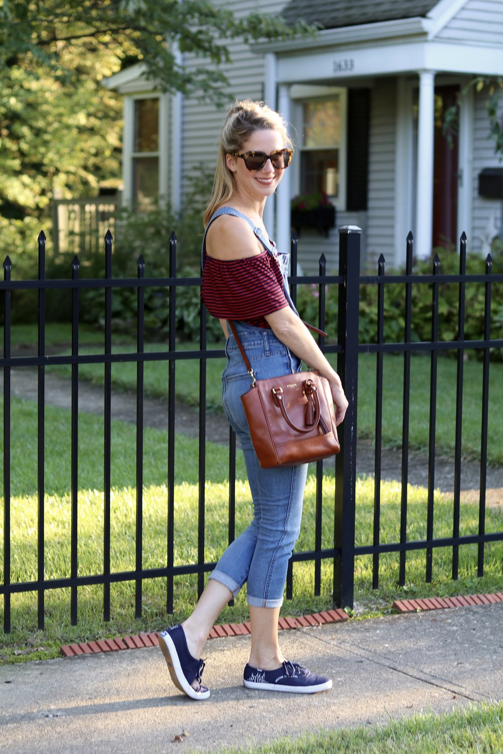 gilt edge | off the shoulder overall