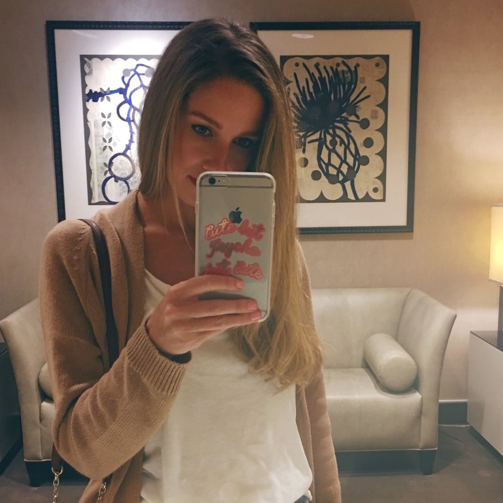 Selfies at Nordstrom 💗 Outfit here // Phone Case