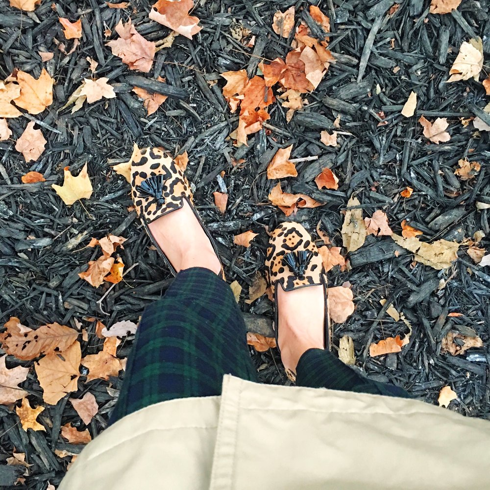 Steve Madden Shoes, Topshop Pants, Michael Kors Trench via Von Maur