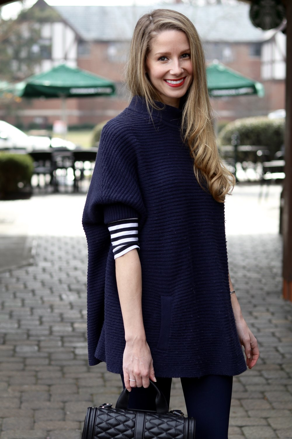 gilt edge | poncho sweater