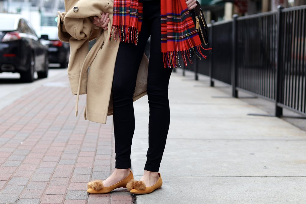gilt edge | plaid & poms