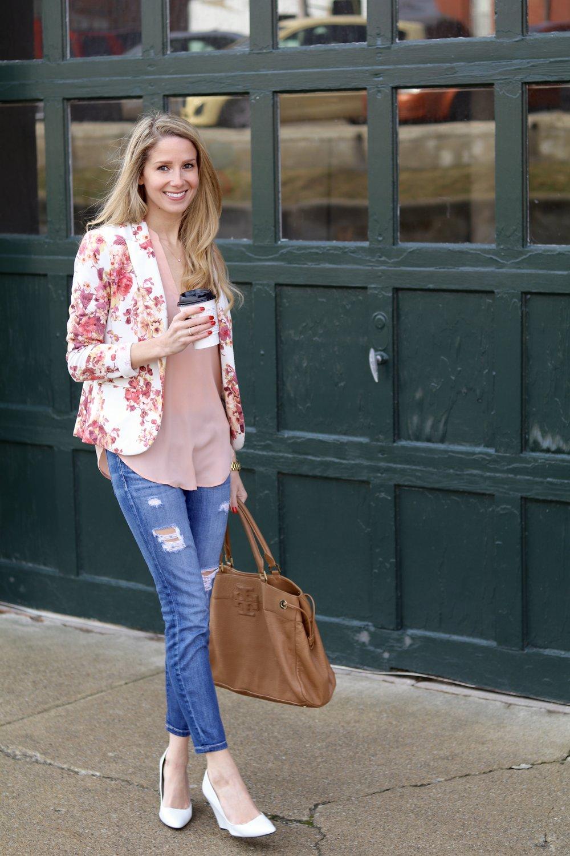gilt edge | floral blazer