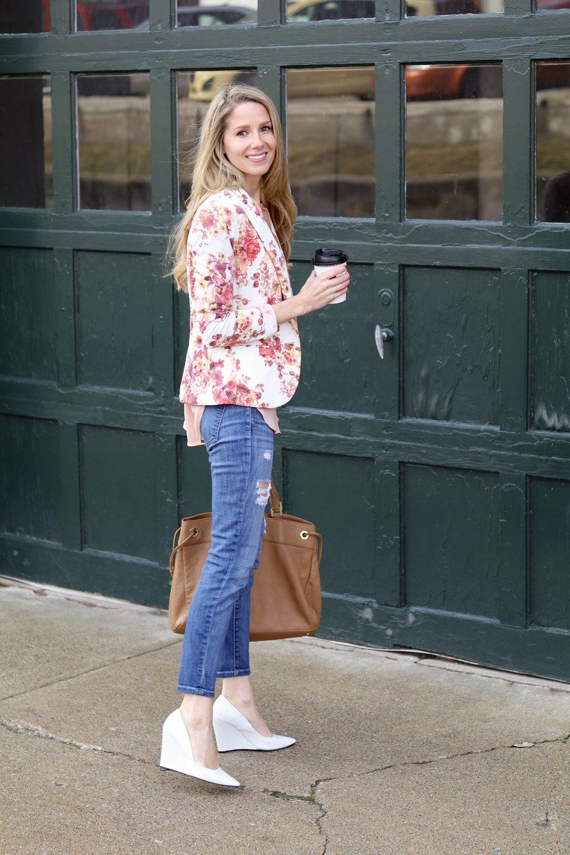 gilt edge | blazer & jeans
