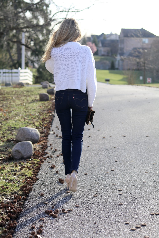 gilt edge | white sweater