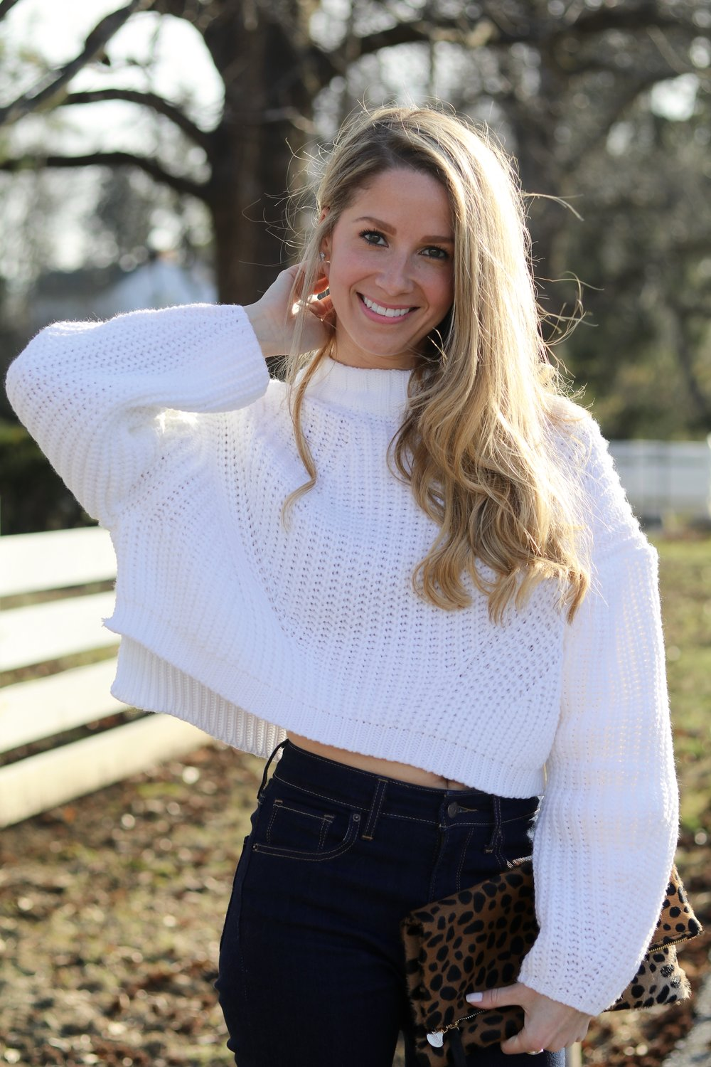 gilt edge | sheIn white sweater
