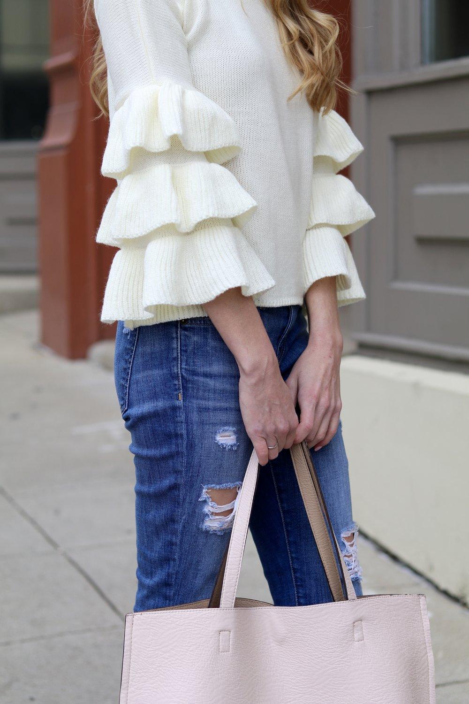 gilt edge | shein white sweater