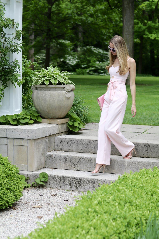 gilt edge | pink jumpsuit