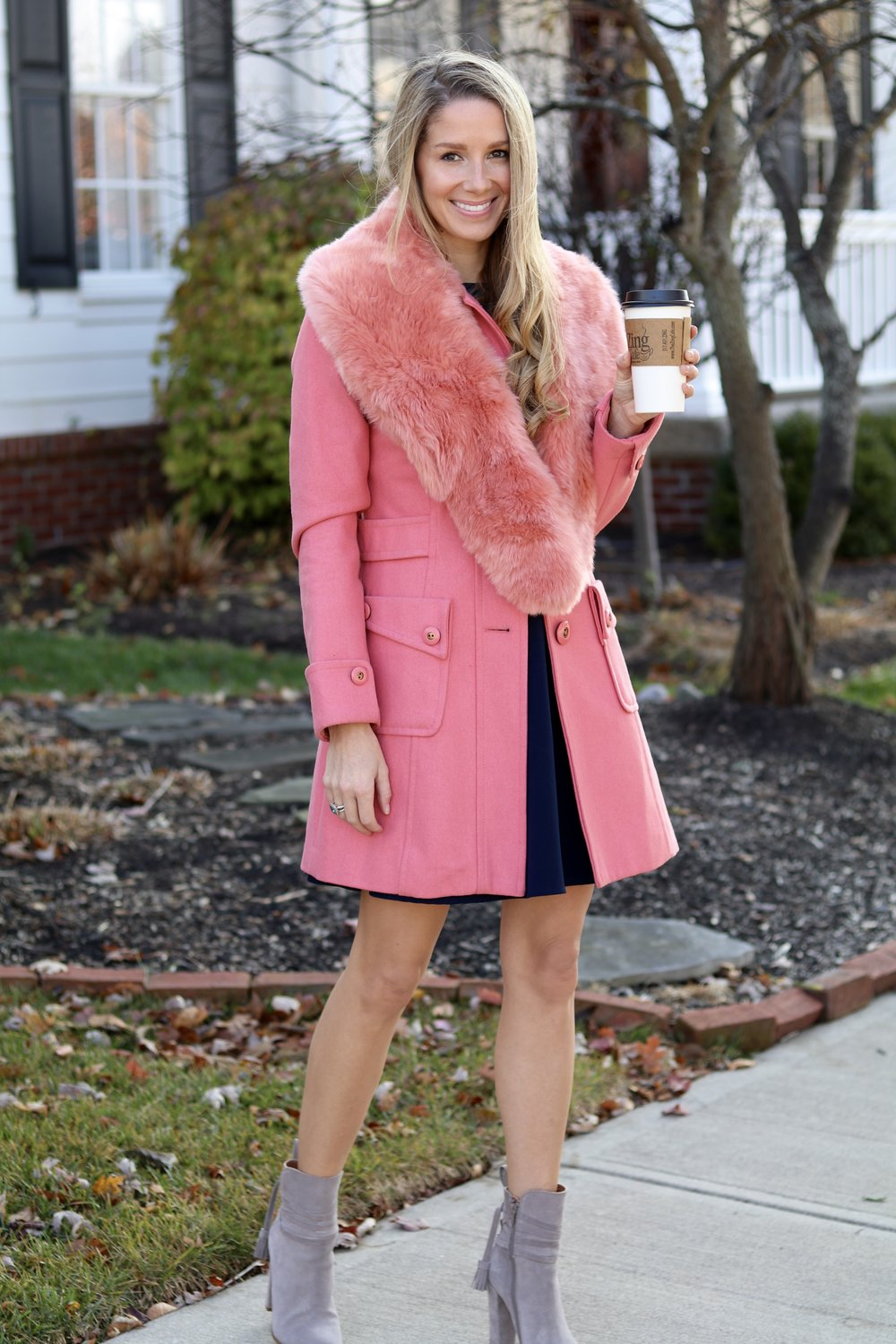 gilt edge | pink coat