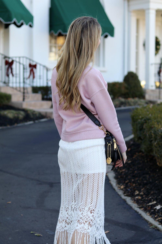 gilt edge | pink sweatshirt