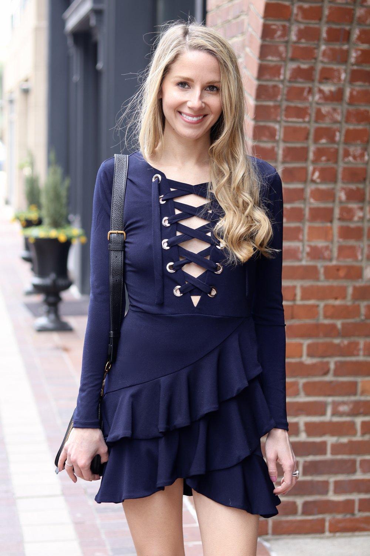 gilt edge | ruffle dress