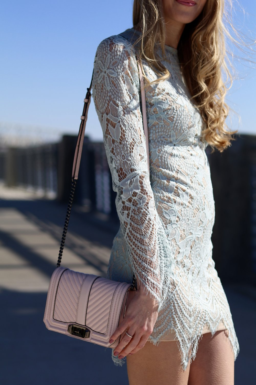gilt edge | scalloped minidress