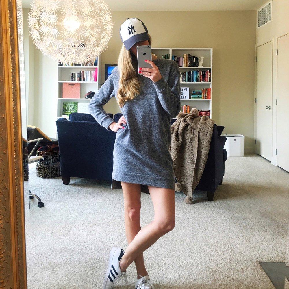 Tomboy 😜 | Similar Sweatshirt Dress, Sneakers