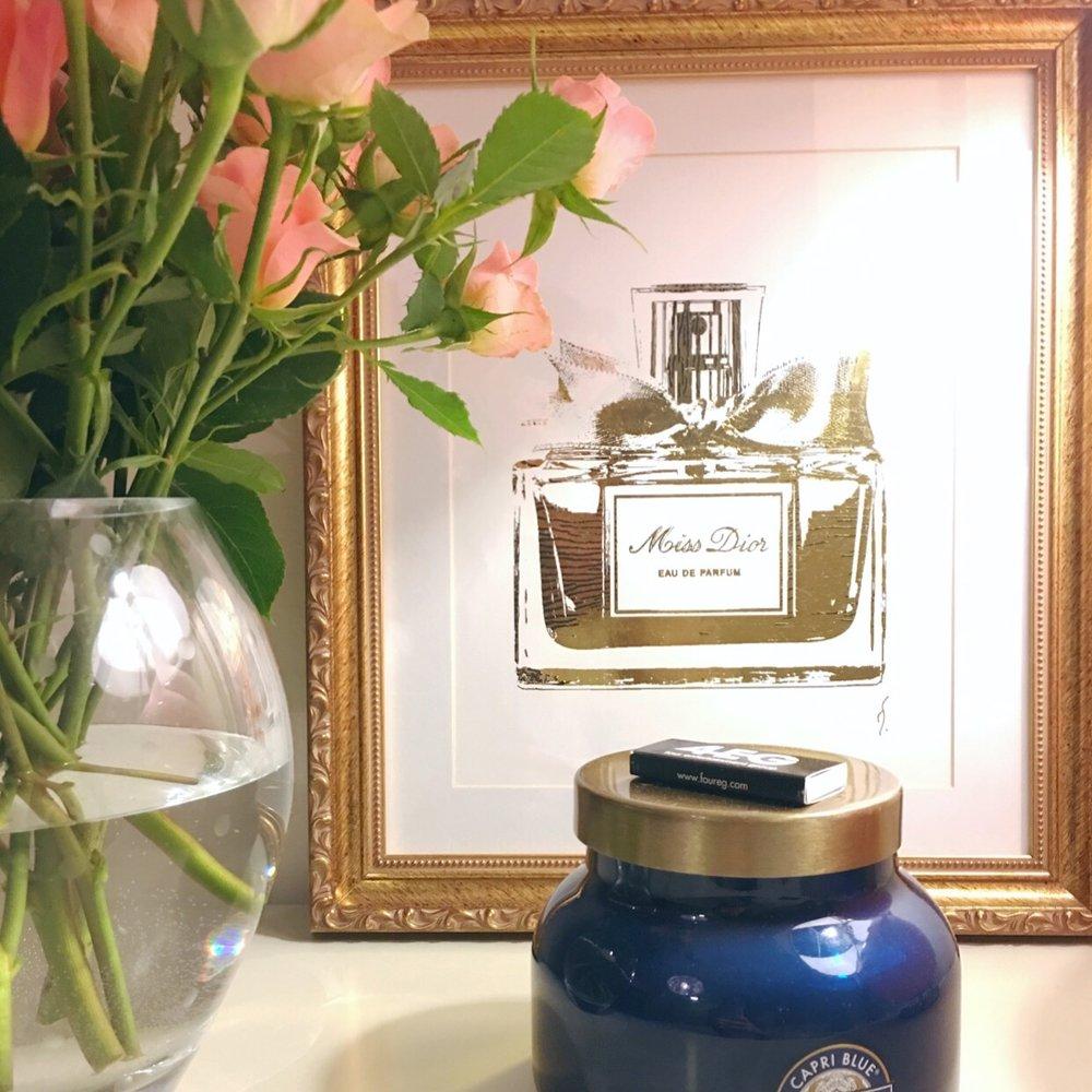 My Room 🌸 | Vase, Candle, Print