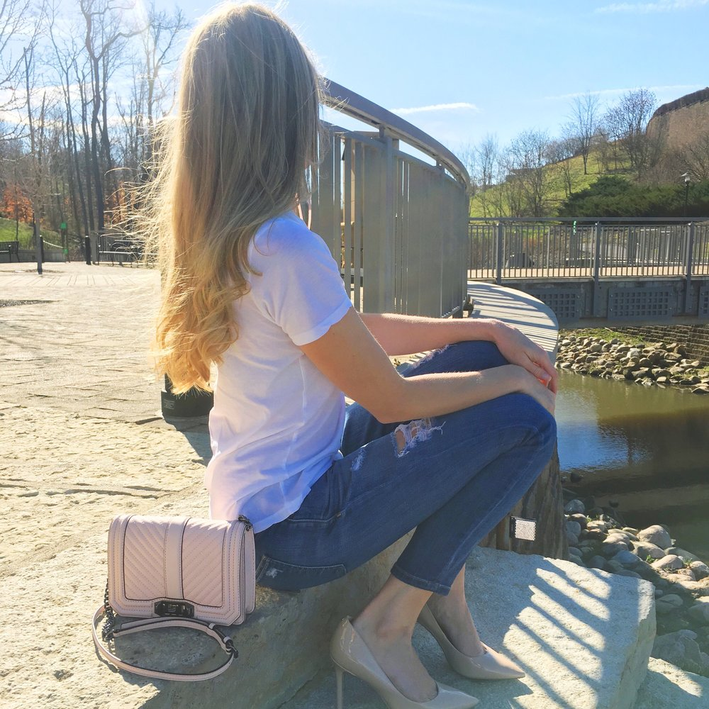 Spring Weather ☀️ | T-Shirt, Jeans, Bag, Heels| Full post here