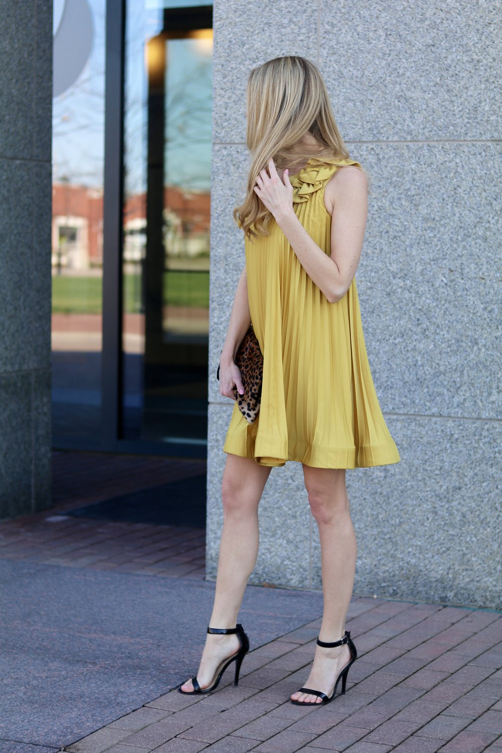 gilt edge | pleated party dress