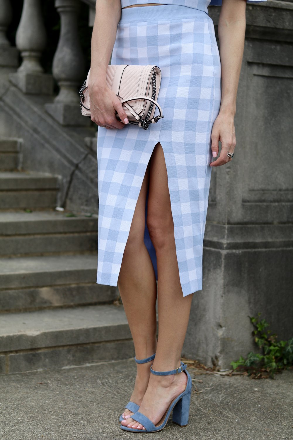 gilt edge | gingham skirt and top