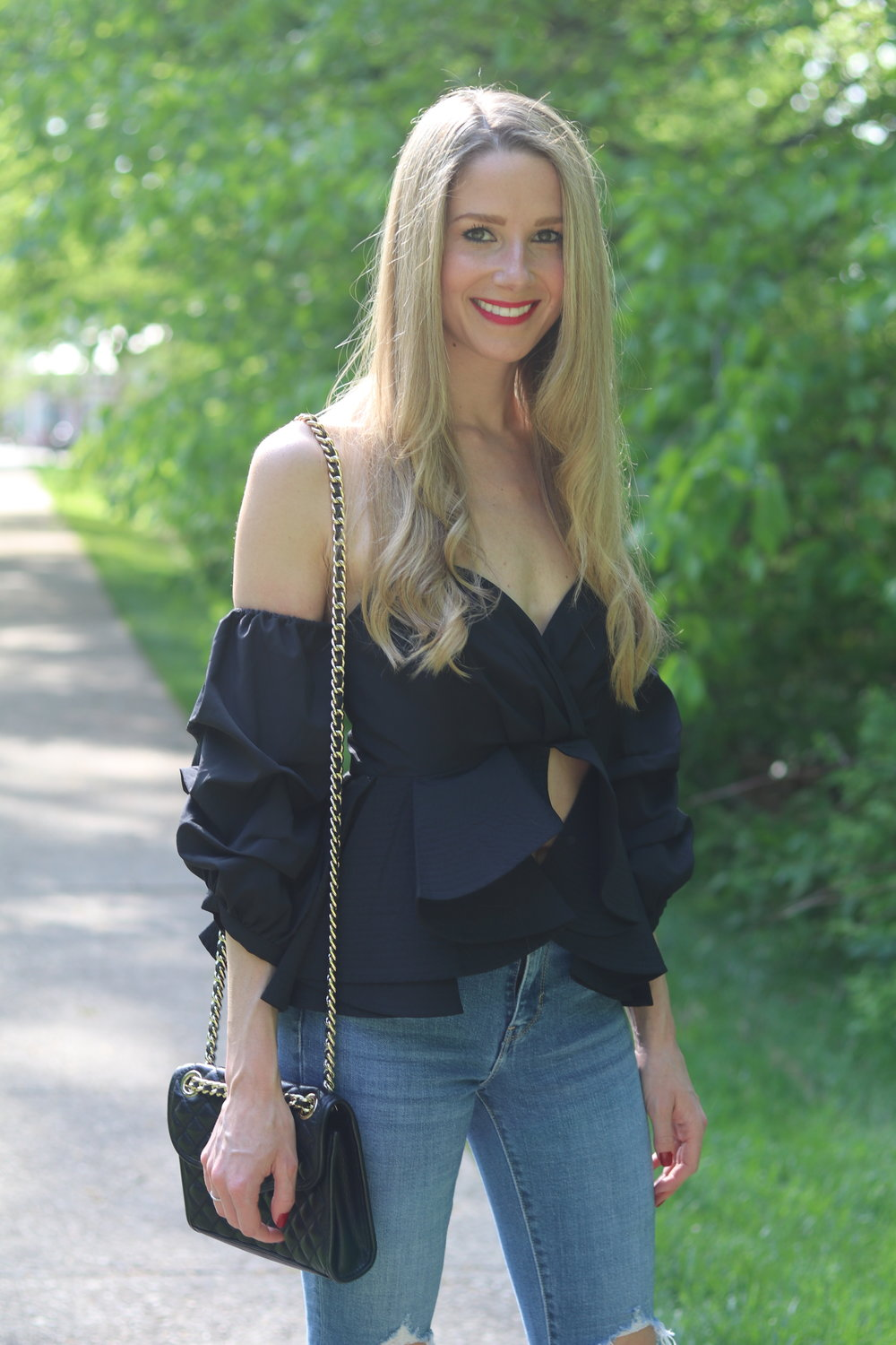 gilt edge | ruffle top