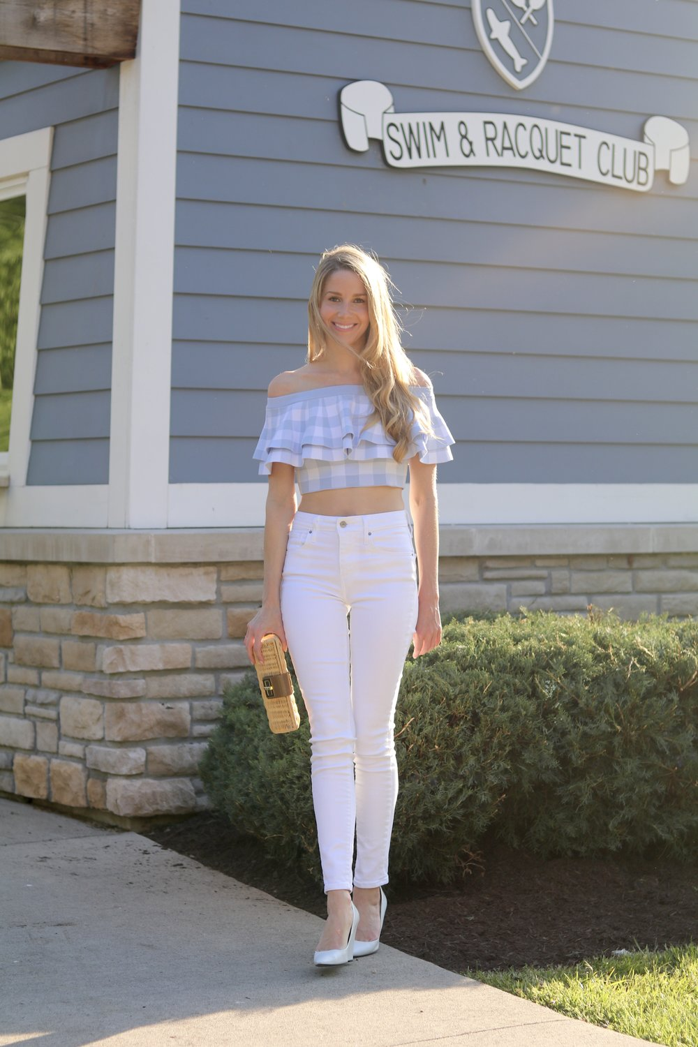 gilt edge | white denim