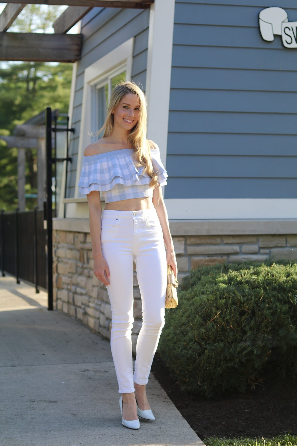 gilt edge | dillard's gingham top