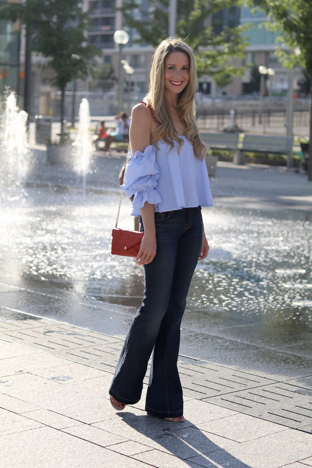 gilt edge | denim outfit of the day