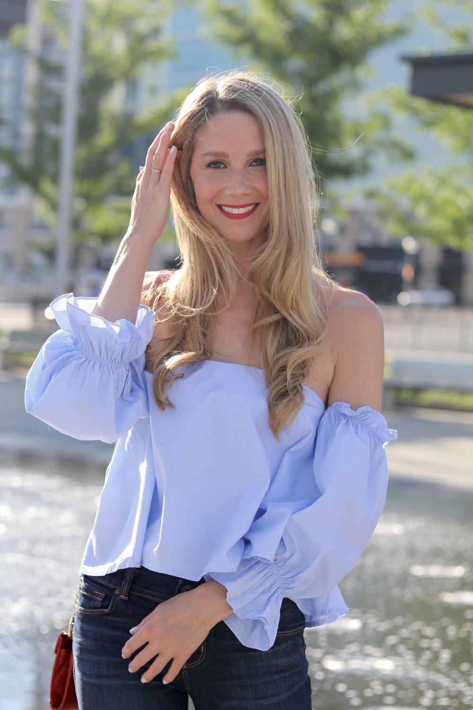 gilt edge | ruffled blouse