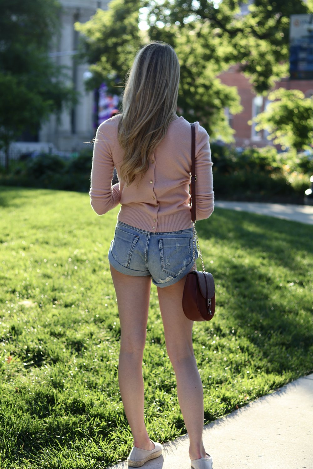 gilt edge | denim shorts outfit