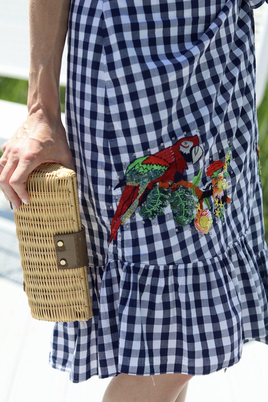 gilt edge   zara parrot skirt