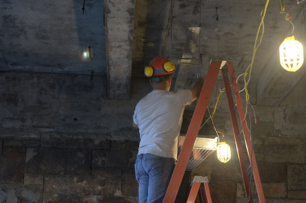 Ceiling mockup instalation