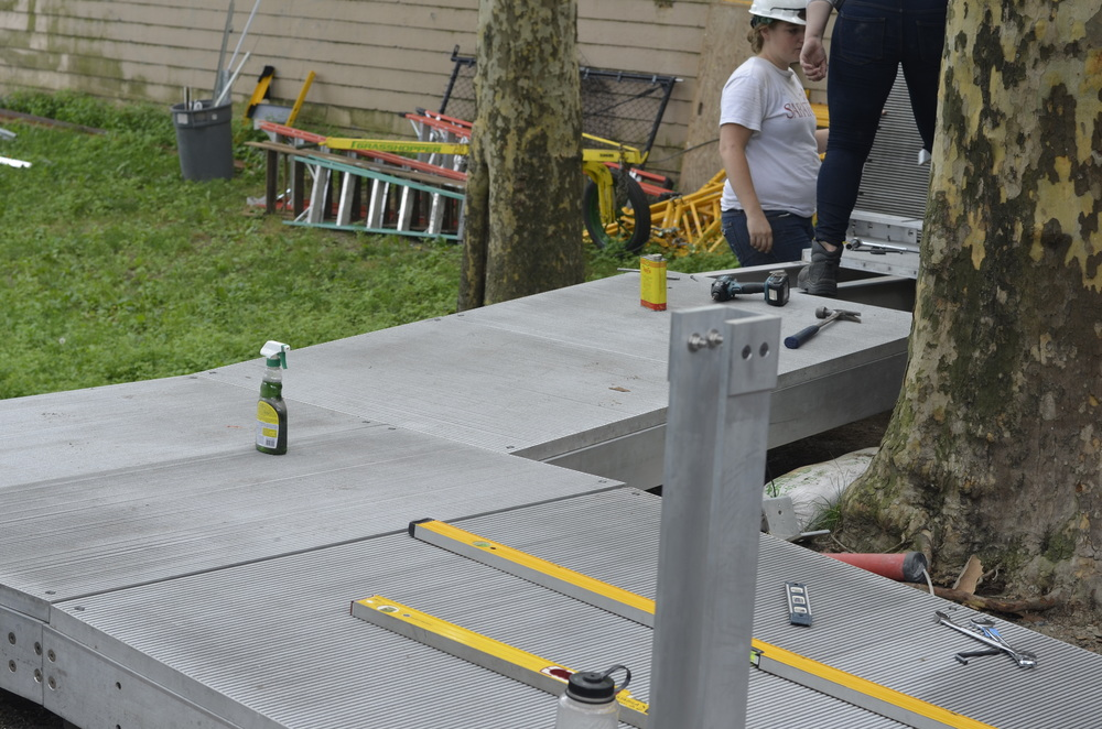 Ramp platforms secured