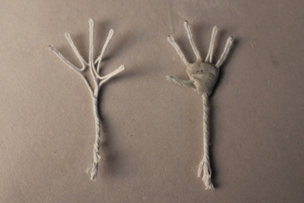Propoxy sculpted palm.