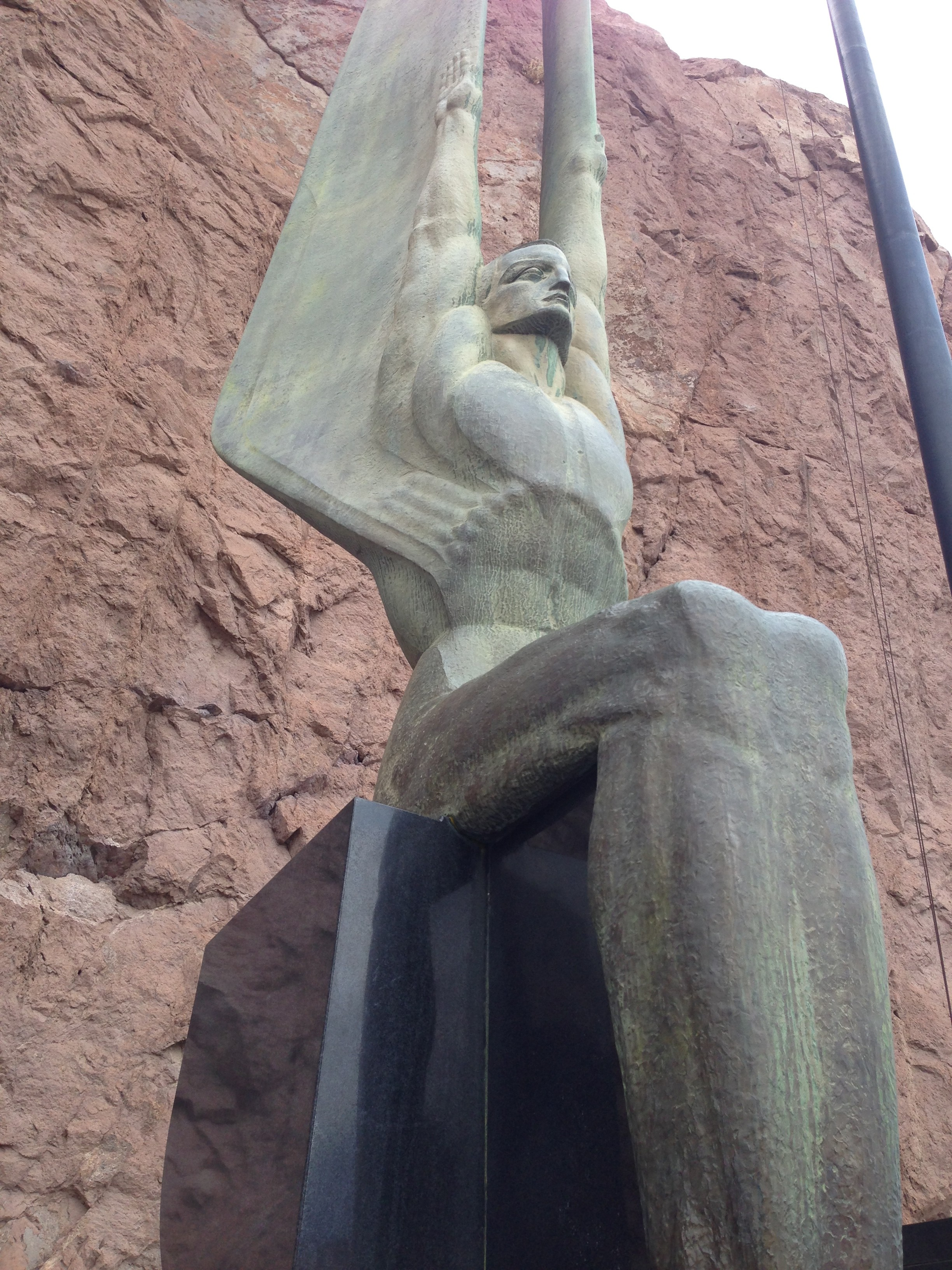 One of the figures at the Hoover Dam - I LOVE ART DECO!
