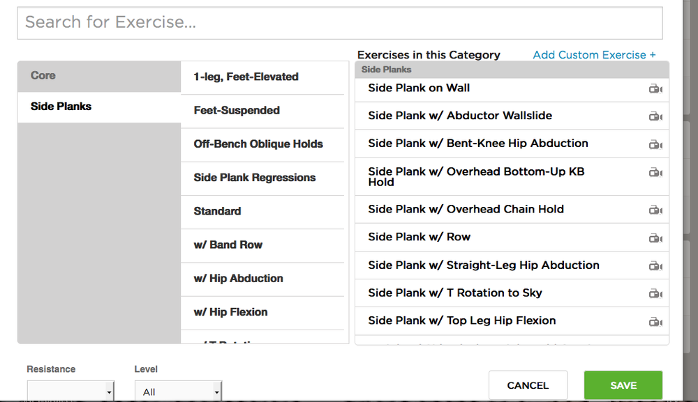 Concentric Brain has a plethora of side plank variations for you to match to your client.