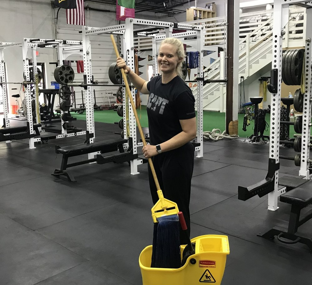 "Everyday chores can be a part of a ""Good"" recovery session... mopping is one of my favorites (I'm so serious)."