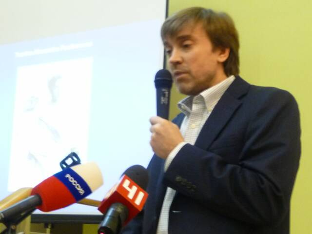 Dr. Evgeny Rogaev at the December 2008 Announcement