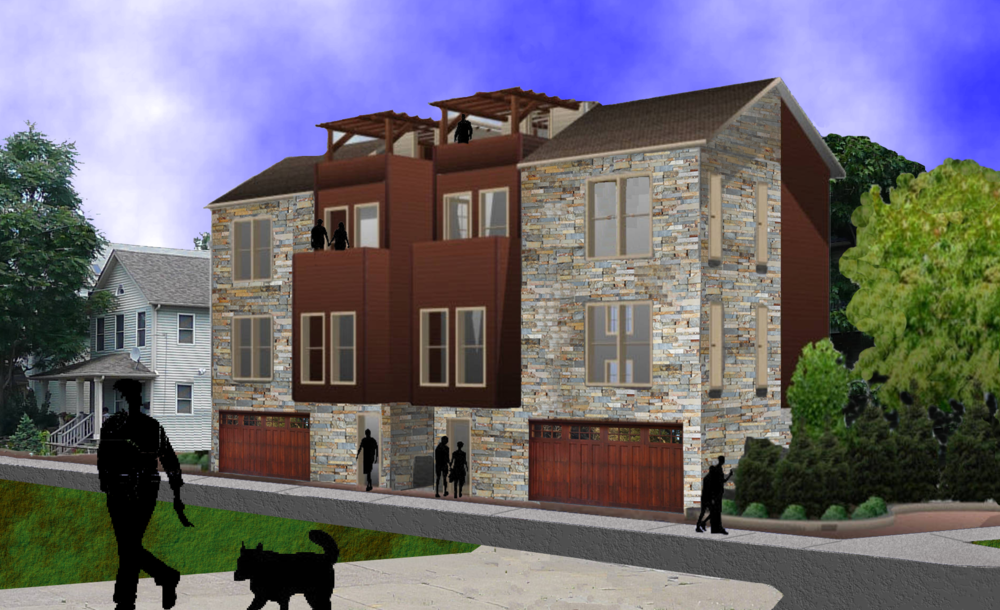 Pre-construction rendering of Cottages on Thurman