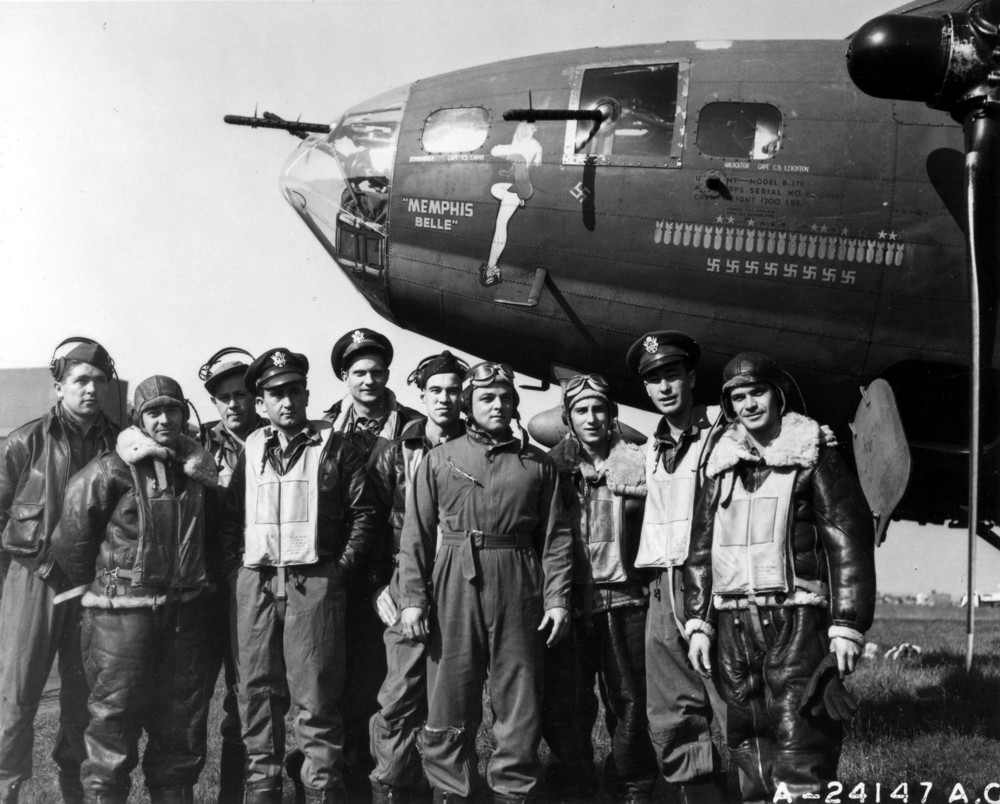 The Memphis Belle and her crew