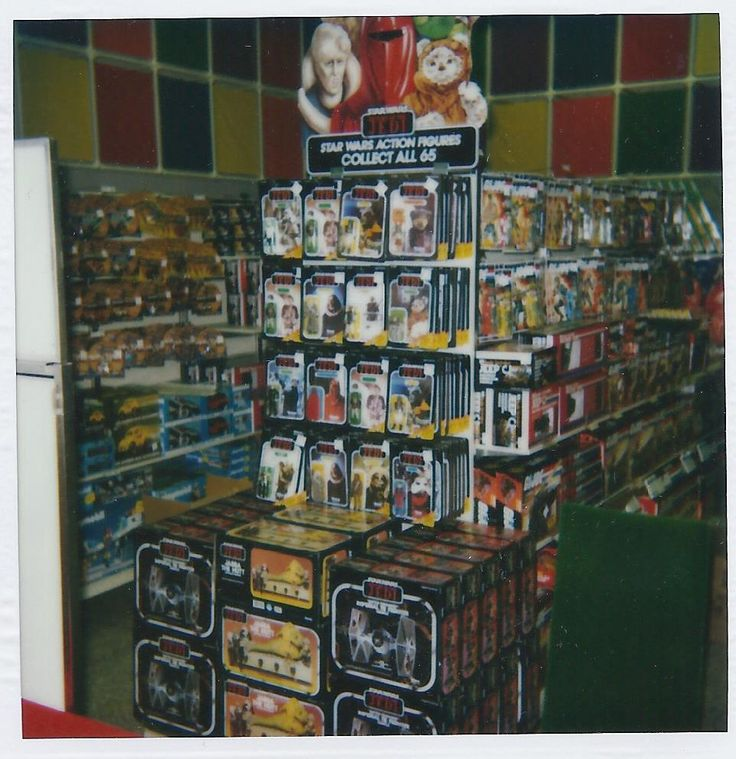 1983 Return of the Jedi toy display