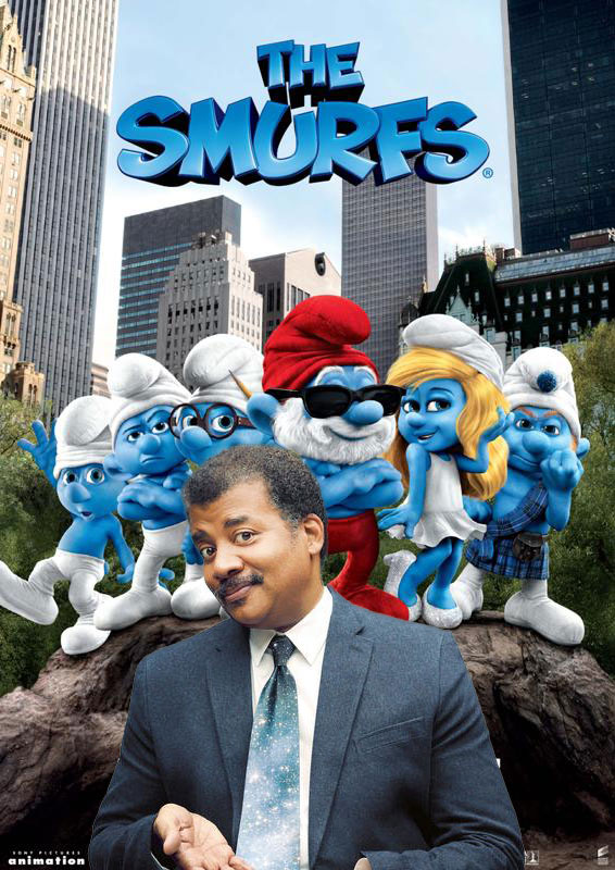 The Smurfs movie could only have been improved by the addition of Neil deGrasse Tyson.