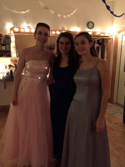 Jenna, Nora, and Gretta (from left to right)  made the prom happen!