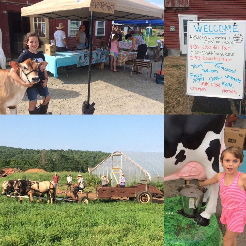 Learn to milk a cow, see the horses in action (spreading compost)...just some of the activities we offered as one of 74 events around the state for the 4th annual Open Farm Week.