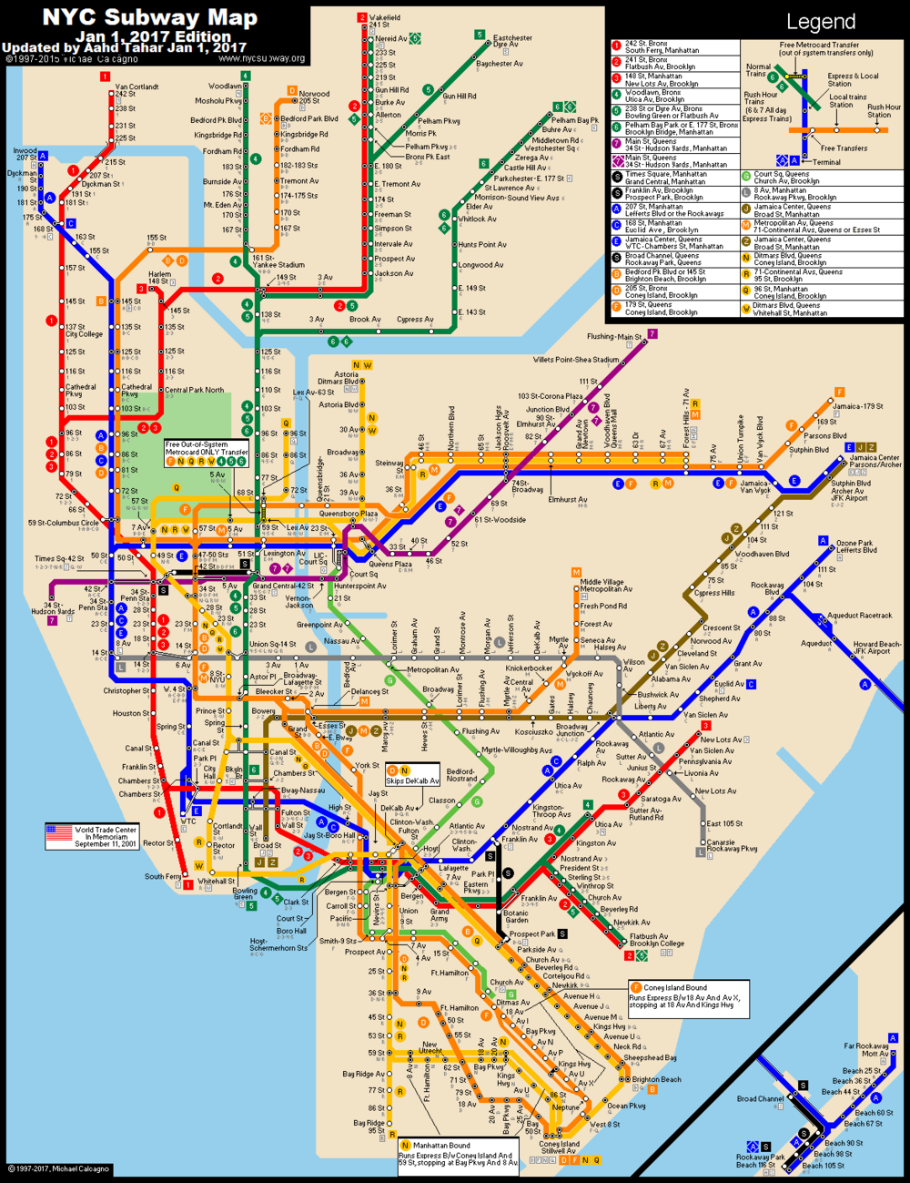 NYC Official Subway Map