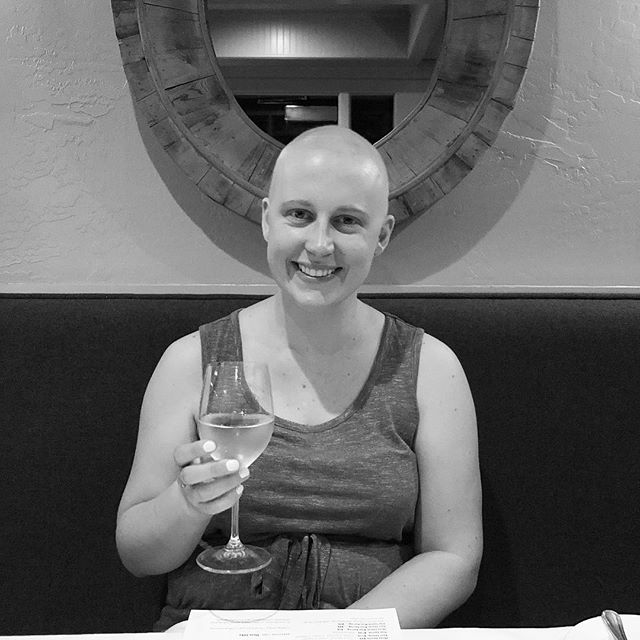 "Today is world cancer day. Almost 5 months ago, I said F it and bald it out at my first Michelin star restaurant. I was in remission, still feeling ""cancery"" and food still tasted a little weird sometimes, but it was 100% worth it. Thinking today about all the people waiting for this day to come for them. There are so many ways to help the cancer community! You can volunteer to drive people to treatment, donate to your preferred charity, or just spread the word and raise awareness. #beatcancer #worldcancerday #lymphomasurvivor"